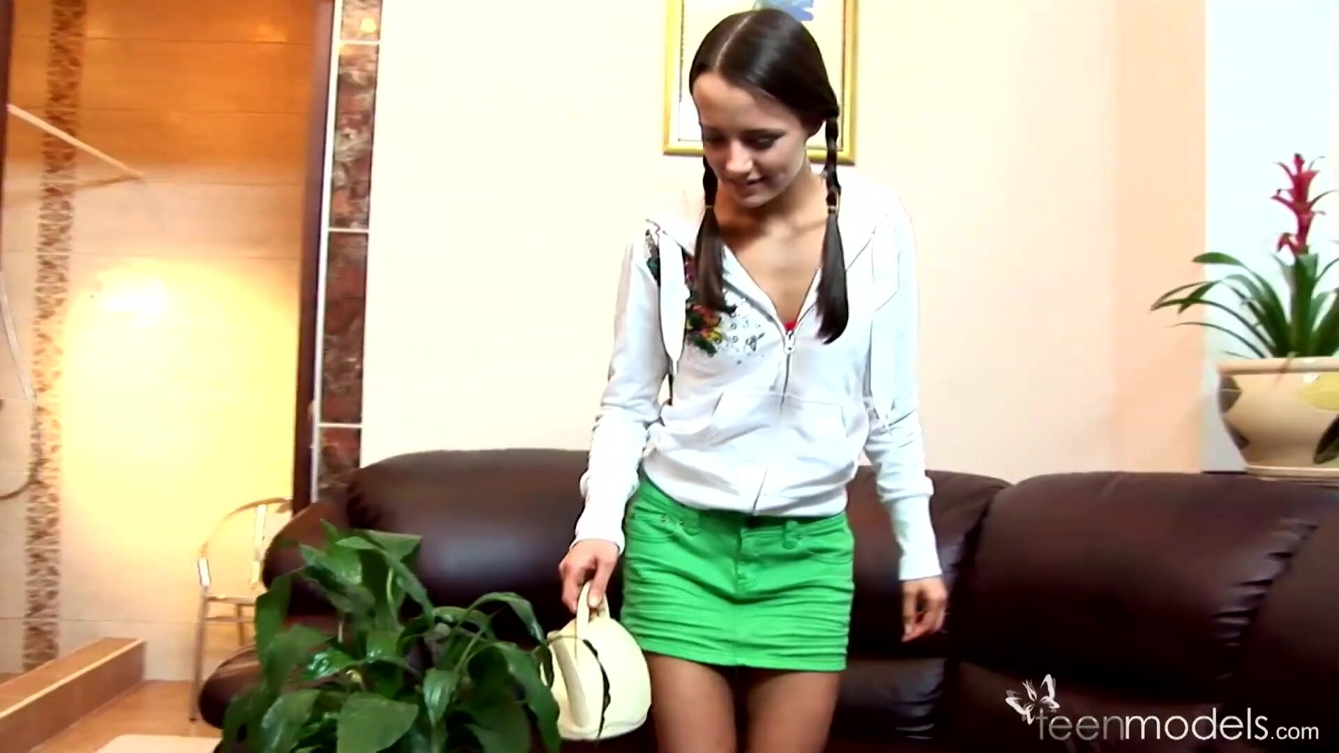 Young Girl Stella Touches Her Hot Body - Nickel