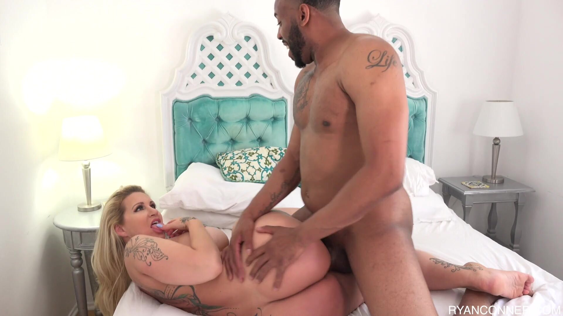 Round Girl Takes Black Cock In Ass - Ryan Conner