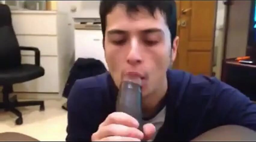 White Mexican Young Boy Sucking Black Cock Eating Cums 3