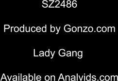 Lady Gang assfucked by 4 guys and then gangbanged