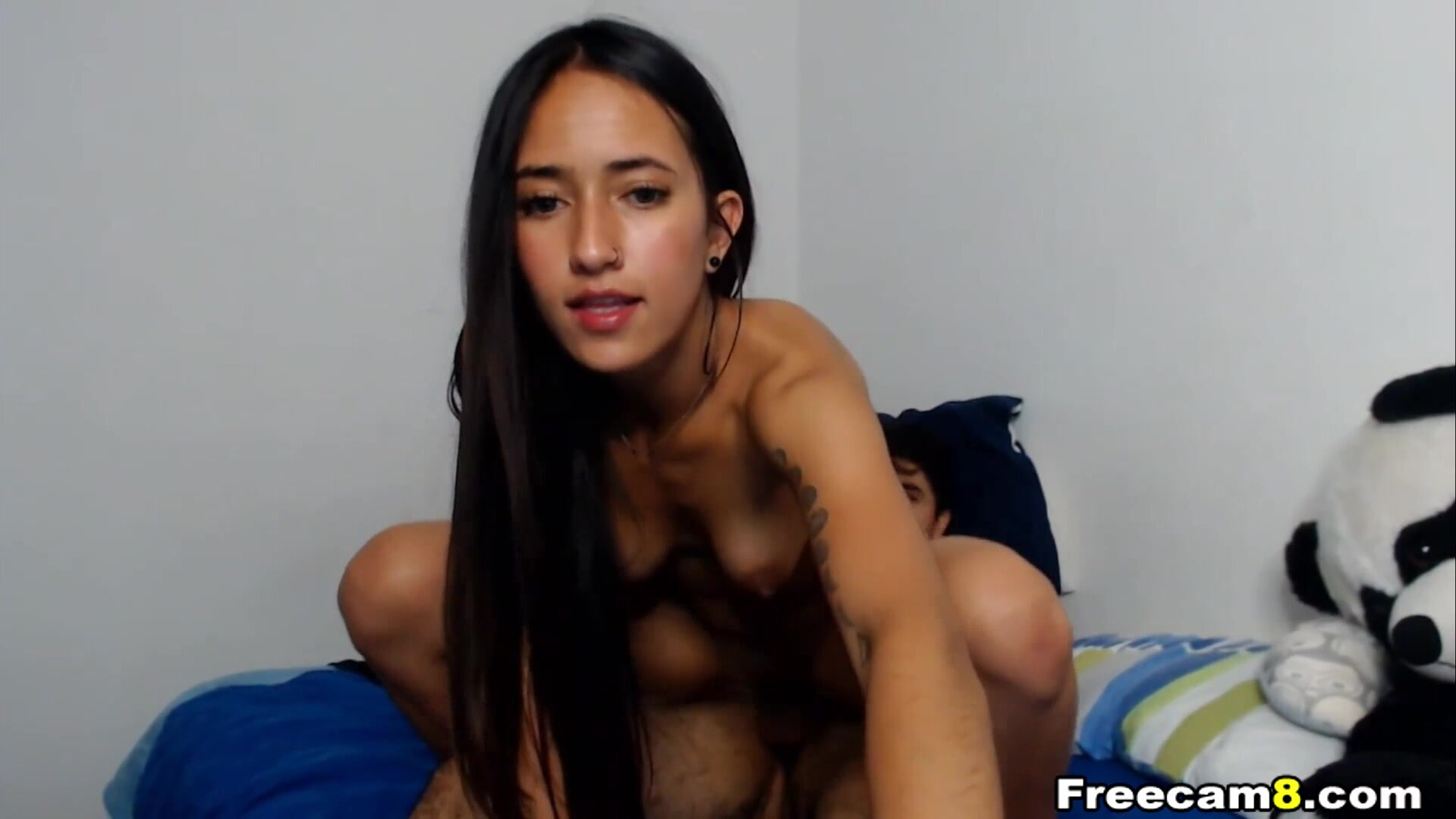 Brunette Rides Cock in Reverse Cowgirl